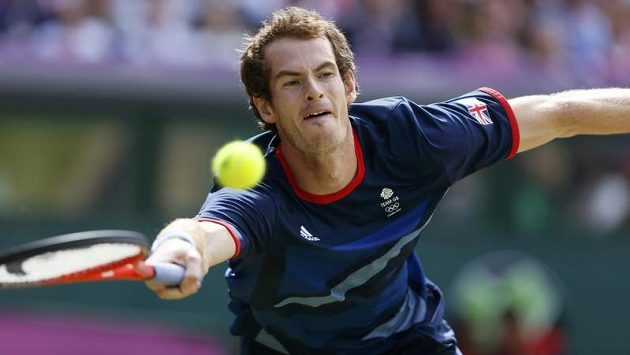 Brit Andy Murray během finále s Rogerem Federerem.