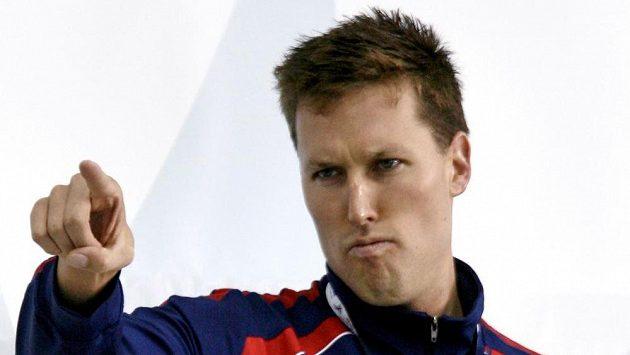 Bývalý plavec Klete Keller se zlatou medailí na americkém šampionátu v plavání z roku 2008. Archivní foto