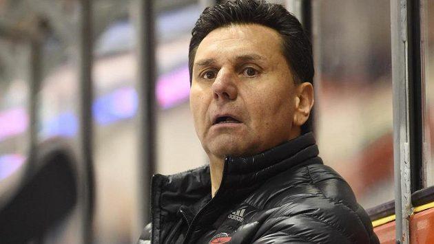 Trenér Chomutova Vladimír Růžička.