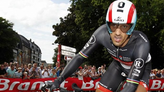 Švýcar Fabian Cancellara při prologu Tour de France v Lutychu.