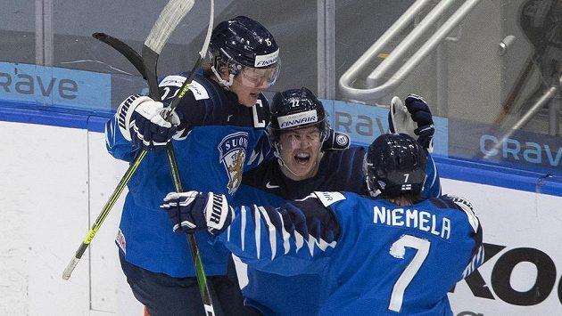 Radost finských hráčů byla obrovská.