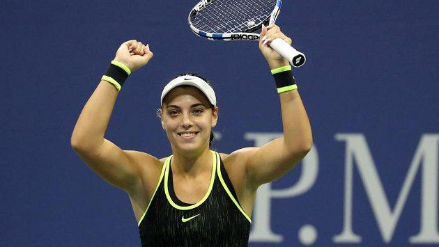 Chorvatka Ana Konjuhová po senzačním postupu do čtvrtfinále US Open.