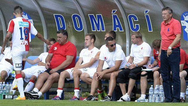 Trenér Slavie Miroslav Beránek (vpravo).