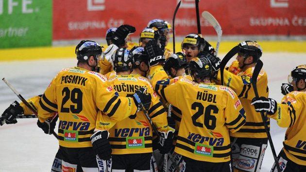 Radost hokejistů Litvínova.