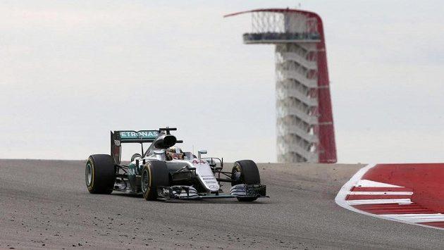 Brit Lewis Hamilton během Velké ceny USA.