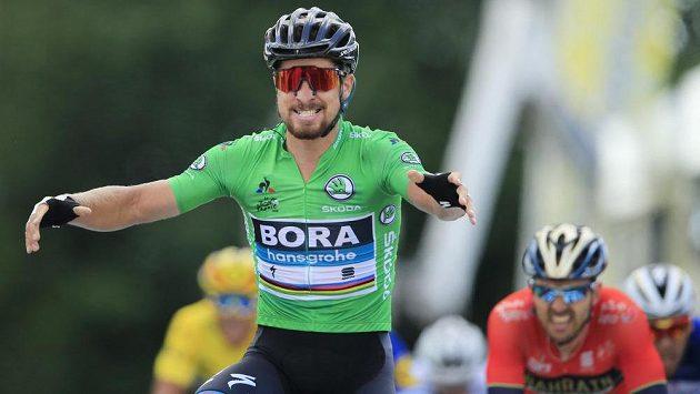 Slovenský cyklista Peter Sagan vyhrál na letošním Tour de France druhou etapu.