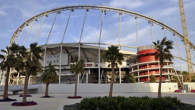 Aréna Chalífa International Stadium, kde se bude hrát fotbalové MS v roce 2022.