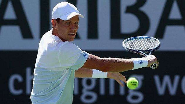 Tomáš Berdych v Indian Wells překvapivě skončil hned ve druhém kole, když nestačil na Španěla Roberta Bautistu Aguta.