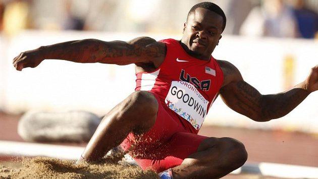 Hráč amerického fotbalu Marquise Goodwin skončil druhý v dálce na Panamerických hrách v Torontu.