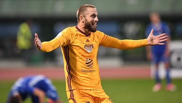 Radost střelce Jana Holendy v utkání proti Baníku.