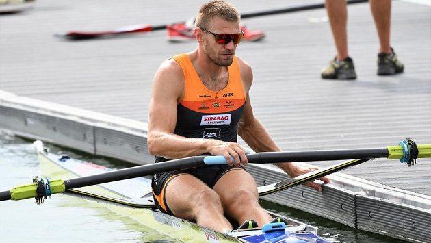 Ondřej Synek na mistrovství světa v rakouském Ottensheimu.