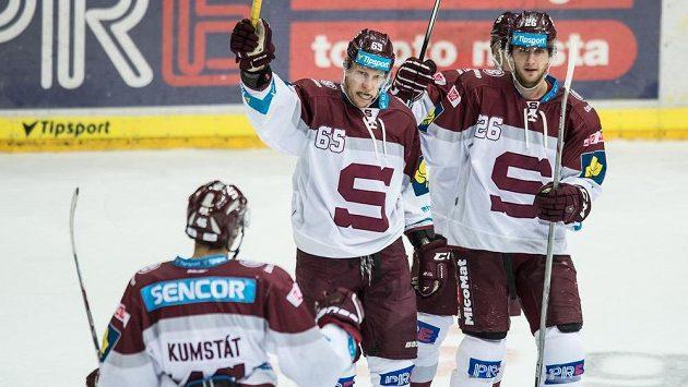 Radost hokejistů Sparty - ilustrační foto.
