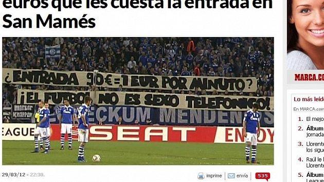 Protest fanoušků Schalke proti cenám vstupenek