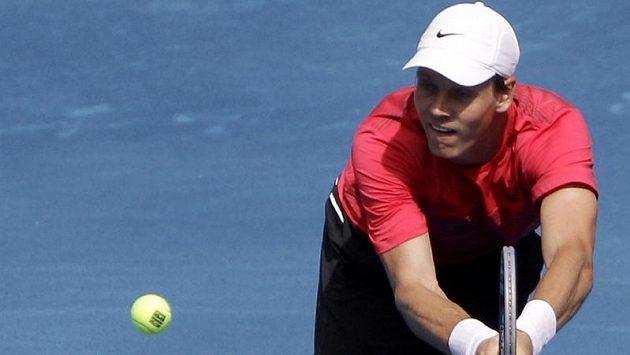 Tenista Tomáš Berdych na madridské antuce