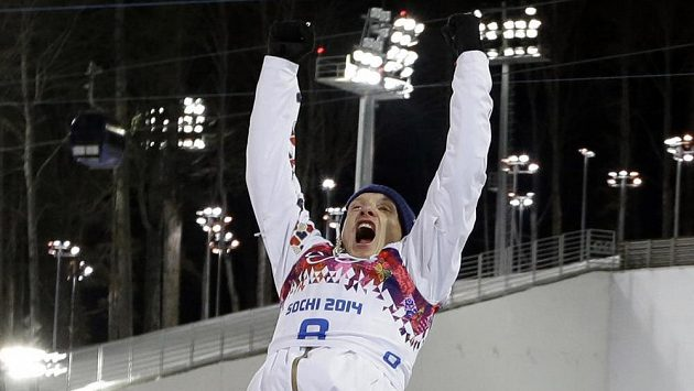 Biatlonista Ondřej Moravec neskrýval po stíhacím závodu na 12,5 km obrovskou radost.