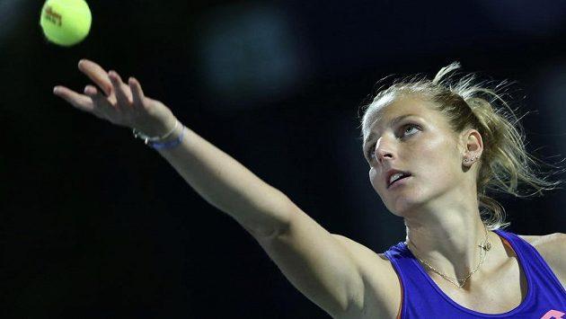Kristýna Plíšková na turnaji v Dubaji.