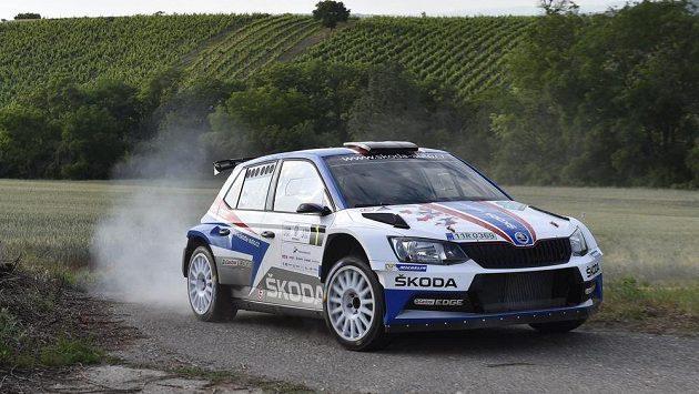 Tovární jezdec Škody Jan Kopecký nejlépe vstoupil do Rallye Hustopeče.