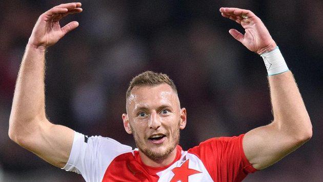 Vladimír Coufal ze Slavie po vítězství v derby.