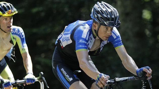 Leopold König byl jedním z hrdinů třinácté etapy Tour. Za ním Polák Rafal Majka.