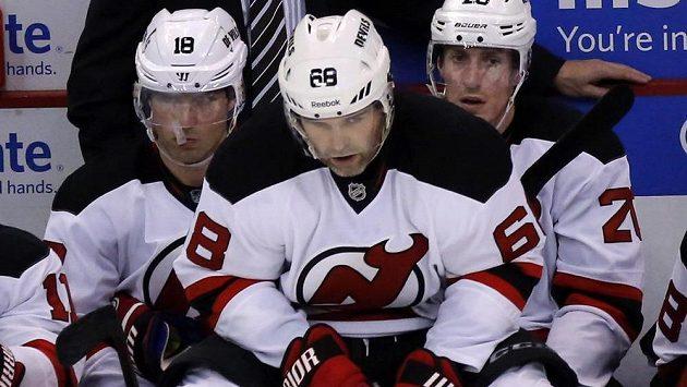 Jaromír Jágr je v Devils spokojený, třebaže se týmu tolik nedaří.