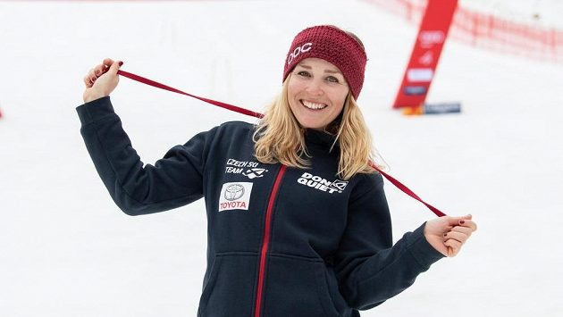 Alpská lyžařka Tereza Kmochová ve Špindlerově Mlýně.