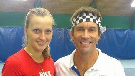 Petra Kvitová a Pat Cash