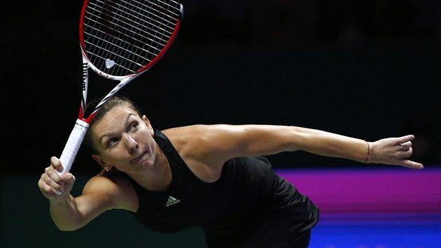 Rumunská tenistka Simona Halepová na Turnaji mistryň