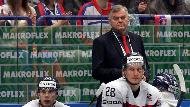 Český trenér na slovenské střídačce Vladimír Vůjtek.
