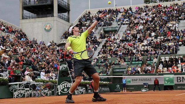 Amélie Mauresmová sledovala duel Andyho Murrayho v 1. kole French Open, v němž Skot porazil Andreje Golubjova ve třech setech.