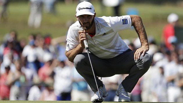Dustin Johnson během golfového US Open.