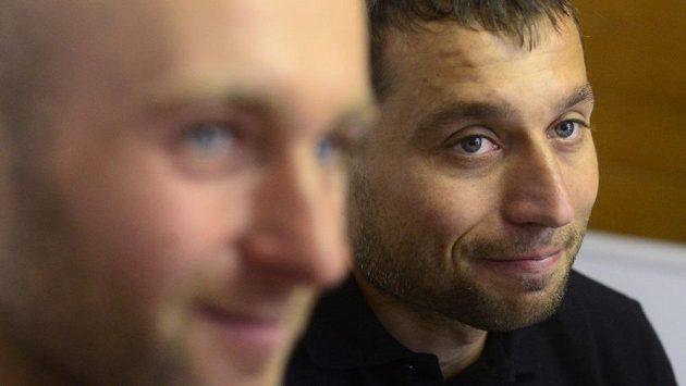 Vodní slalomáři Jaroslav Volf a Ondřej Štěpánek (vpravo)