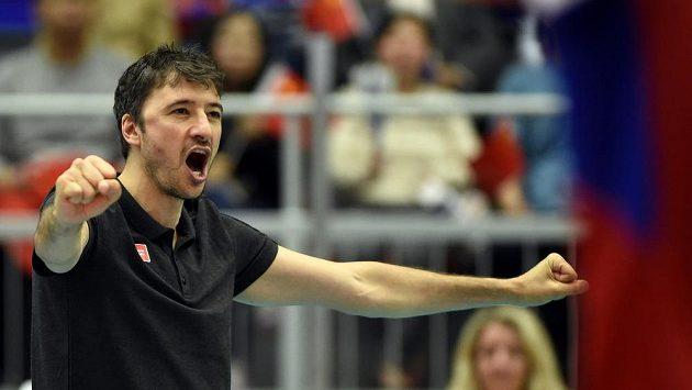 Trenér české reprezentace Miguel Ángel Falasca při utkání s Čínou.