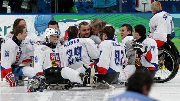 Čeští sledge hokejisté - ilustrační foto