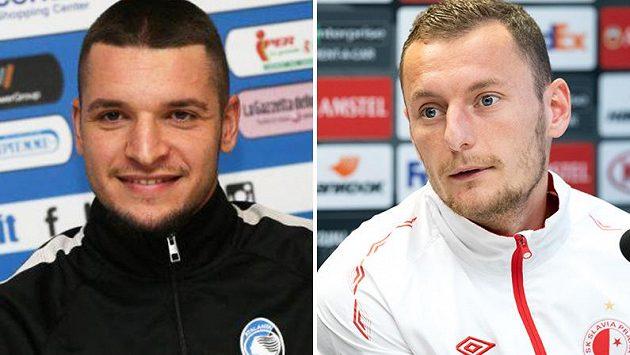 Berat Djimsiti (vlevo) a Vladimír Coufal.