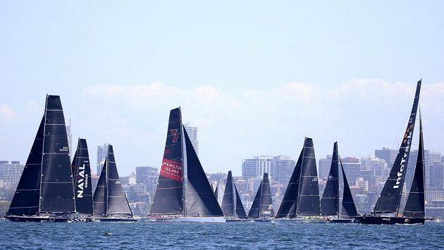 Jachty na startu v Sydney.