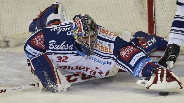 Gólman Vítkovic Patrik Bartošák kryl proti Brnu 38 z 39 střel a velkou měrou pomohl ostravskému týmu k vítězství.