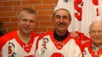 Vybraná pětice nejlepších hokejové Sparty (zleva): Jiří Hrdina, Jiří Holeček, Karel Gut, František Tikal a Jan Havel
