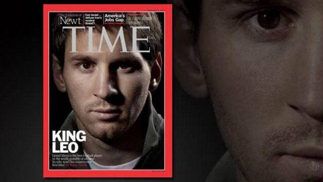 Král Leo jako první fotbalista na titulní stránce prestižního časopisu Time...