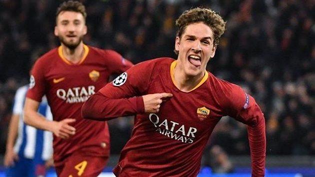 Gólová radost fotbalistů AS Řím - ilustrační foto.