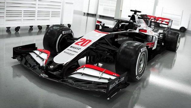 Model VF - 20 americké stáje Haas pro nadcházející sezonu závodů vozů formule 1.