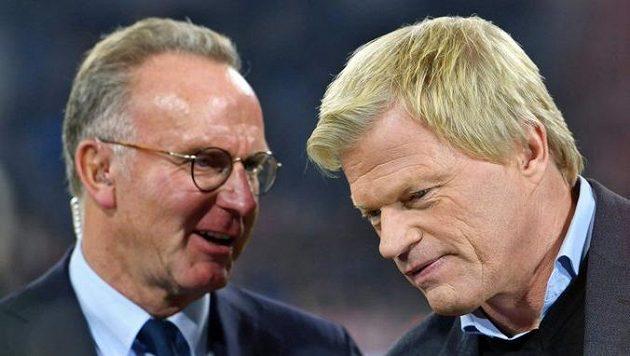 Karl-Heinz Rummenigge (vlevo) na konci června odejde z vedení Bayernu Mnichov, nahradí ho Oliver Kahn.