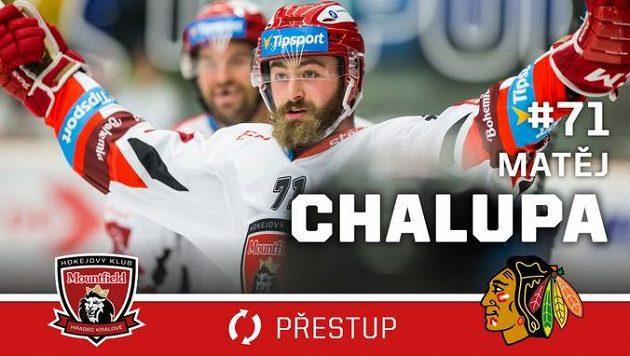 Český hokejový útočník Matěj Chalupa, který v minulosti působil i v hradeckém Mountfieldu, zamířil z přípravného kempu Chicaga na farmu do Rockfordu do nižší AHL.