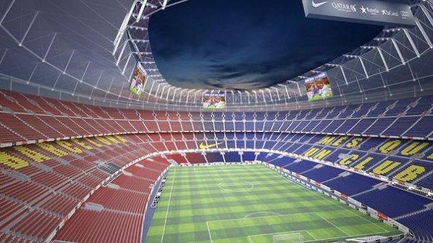 Takhle bude v budoucnu vypadat Camp Nou, domovský stadión fotbalistů Barcelony.