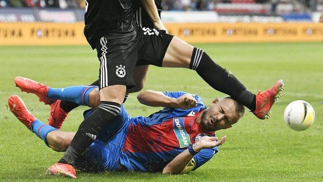 Luděk Pernica z Plzně v zápase proti CSKA Sofia.