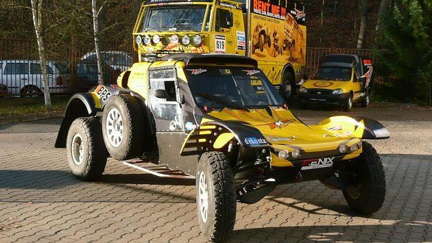 Buggy MD Optimus, s níž Josef Macháček absolvuje Rallye Dakar.
