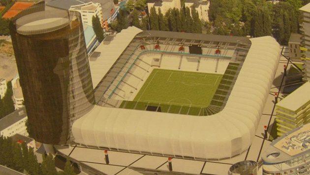 Takto má vypadat fotbalový Národní stadión v Bratislavě.