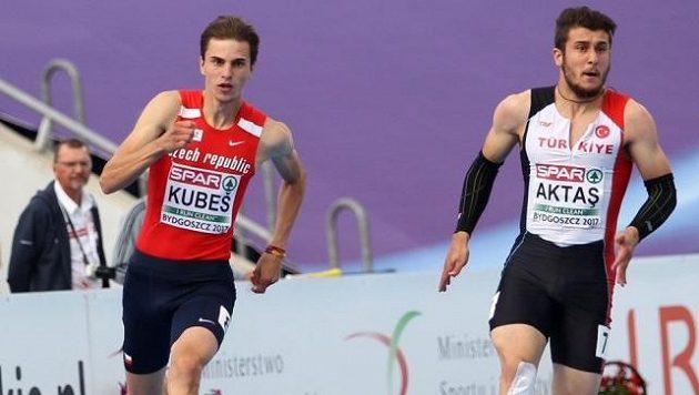 Sprinter Jiři Kubeš při loňském mistrovství Evropy do 23 let v Bydhošti.