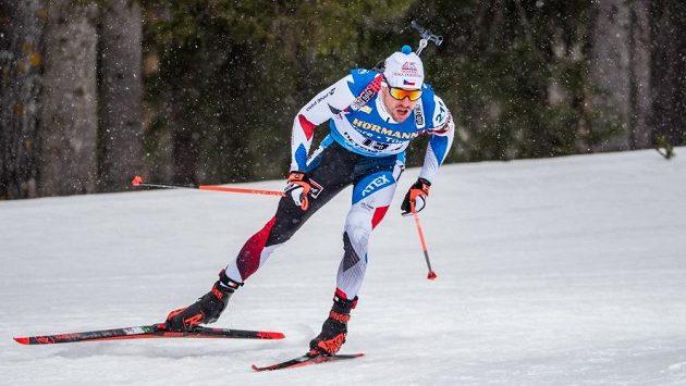 Michal Krčmář při sprintu v Östersundu.