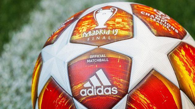Detail nového míče pro Ligu mistrů.