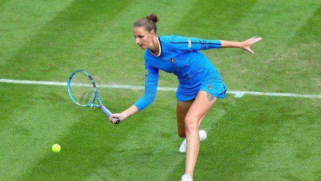 Karolína Plíšková na turnaji v Birminghamu.